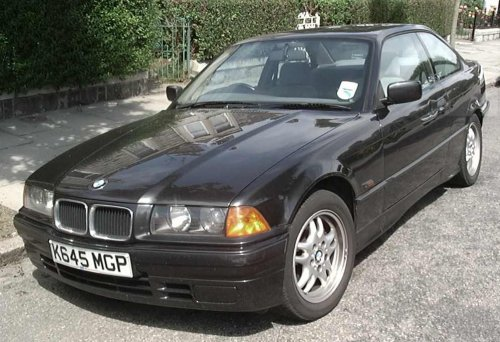 BMW E36 318iS coupe black