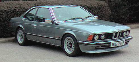 BMW 635CSi 1985 with Alpina wheels